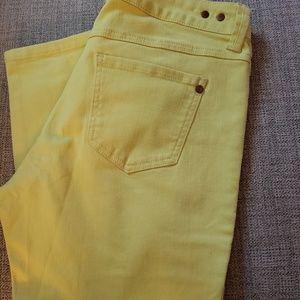 Yellow Cabi skinny Jeans